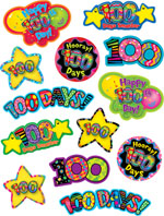 100th day of school stickers classroom supplies