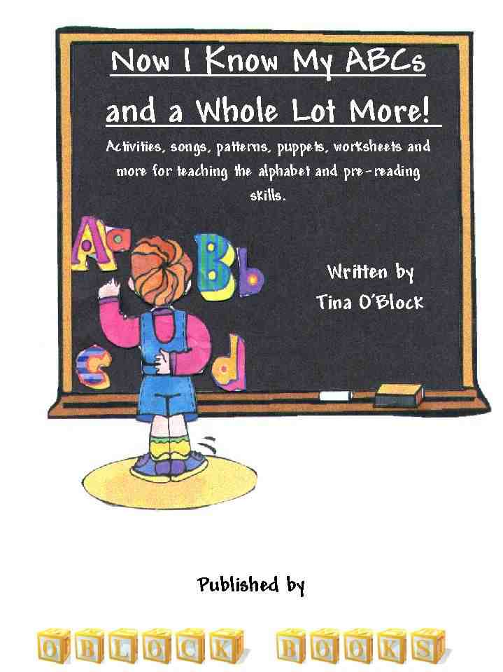 book cover for preschool and kindergarten alphabet activities book